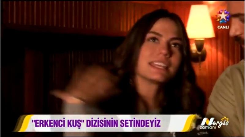 Ercenci Kus Can Yaman Demet Ozdemir on Nergiz Zamani Show