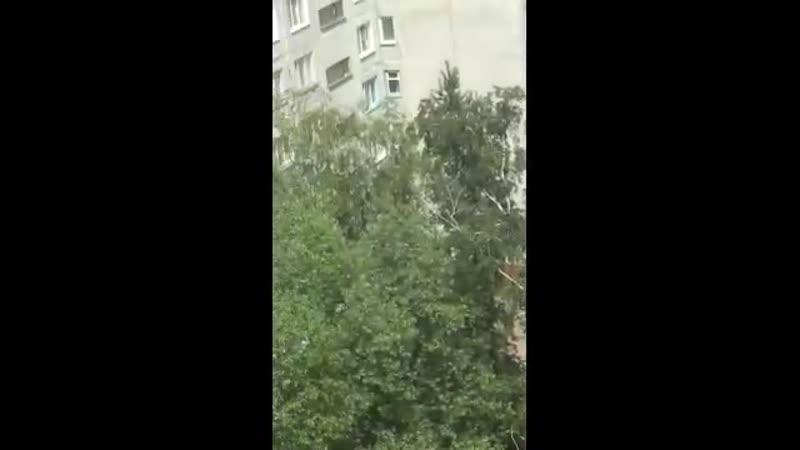 Дети спасались от пожара на карнизе восьмого этажа