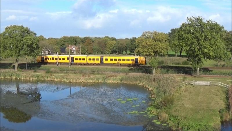 Treinen langs Kristalbad in Enschede