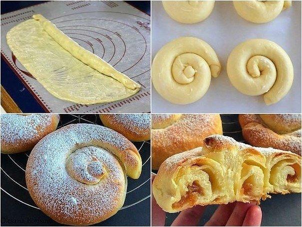 """Вкуснейшие булочки """"Ensaimadas"""""""