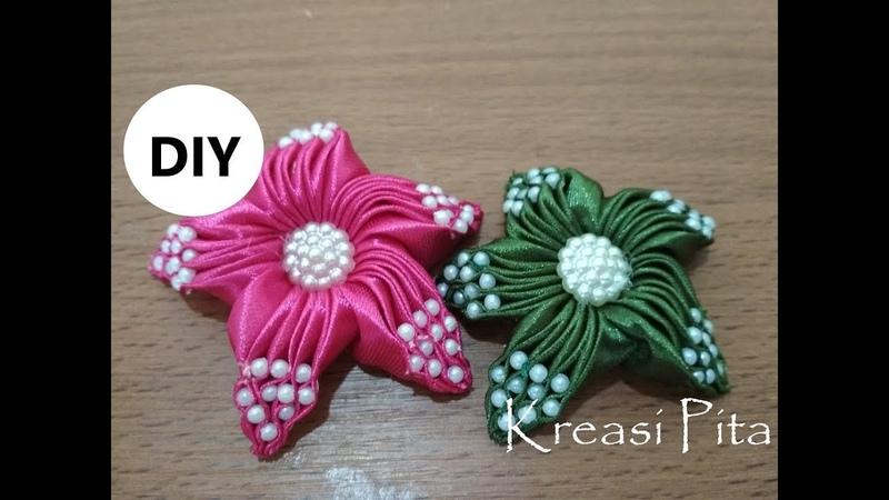 Kreasi Pita - Tutorial Bintang Laut Bagian Ke 2 ( Starfish ) Ribbon Handmade