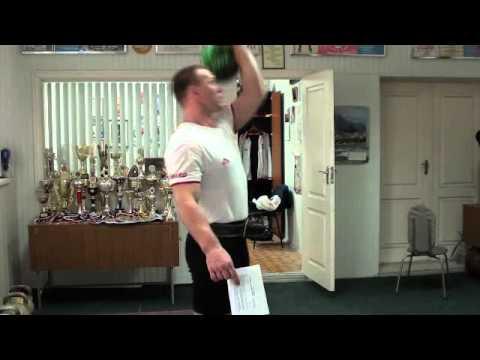 Морозов Игорь - Сброс гирь с груди и заброс - RGSI kettlebell workout