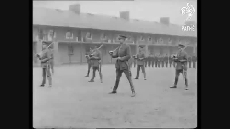 1914 -18 Cavalry Sabre Solo Drills- Horseback _ On Foot -England
