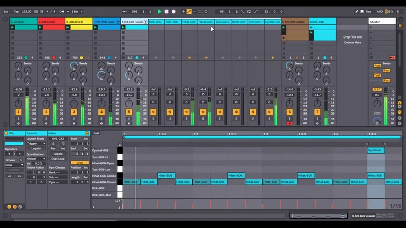 Ableton Live 10 | Acid Melodic Techno | Workflow Live Act
