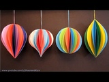 3D Paper Ornaments Holiday Decorations DIY Winter Decor Crafts For Kids