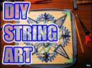 String art snowflake   DIY