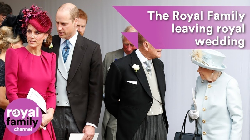 The Royal Family leaving Princess Eugenies wedding