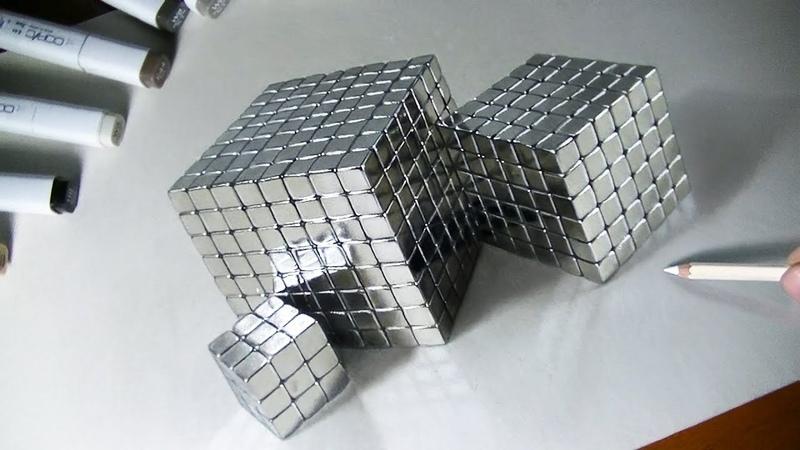 Куб-серебро 3D