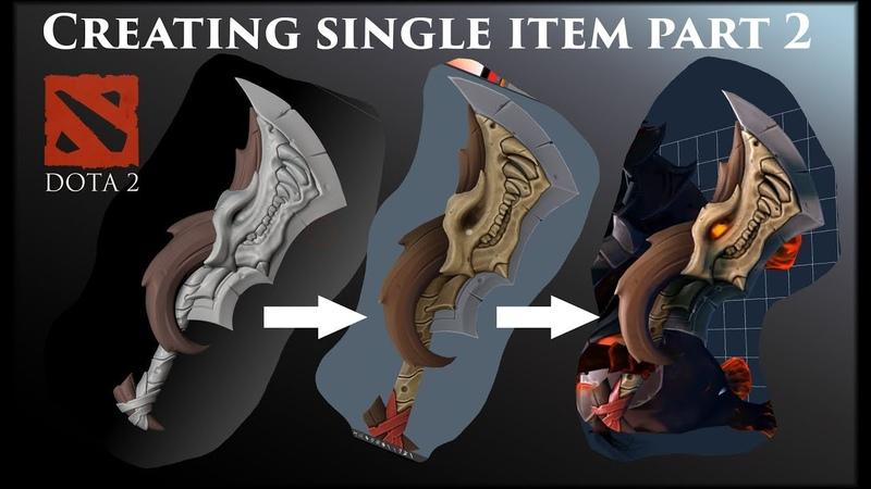 Creating single item for Dota 2 game. Part 2