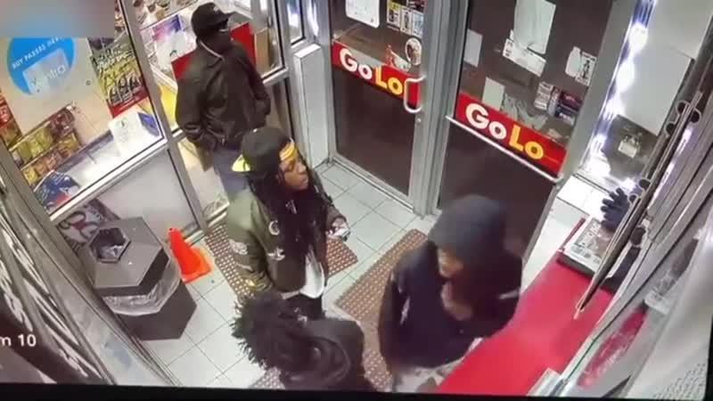 CCTV footage of fatal Chicago gang shooting