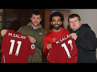 Mo Salah invites viral star Mike Kearney to Melwood | 'Your support is an inspiration'
