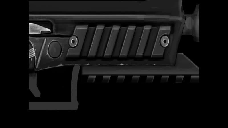 Фрагмент отрисовки пистолета-пулемета