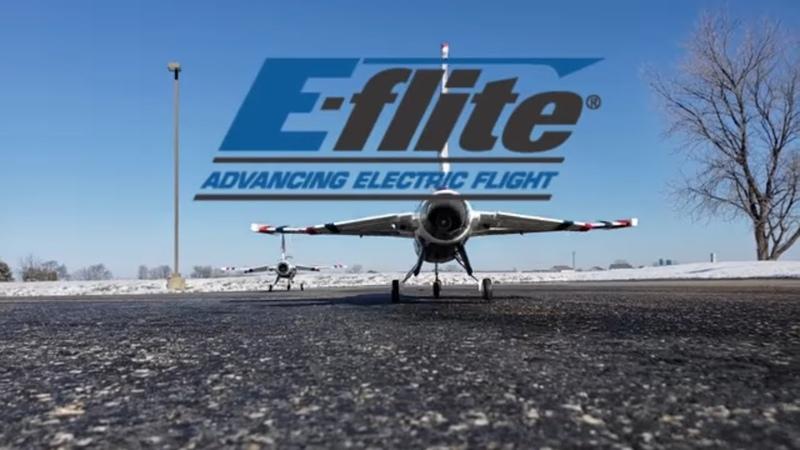 E-flite F-16 Thunderbirds 70mm EDF Flight Talk - Fun in the cold!