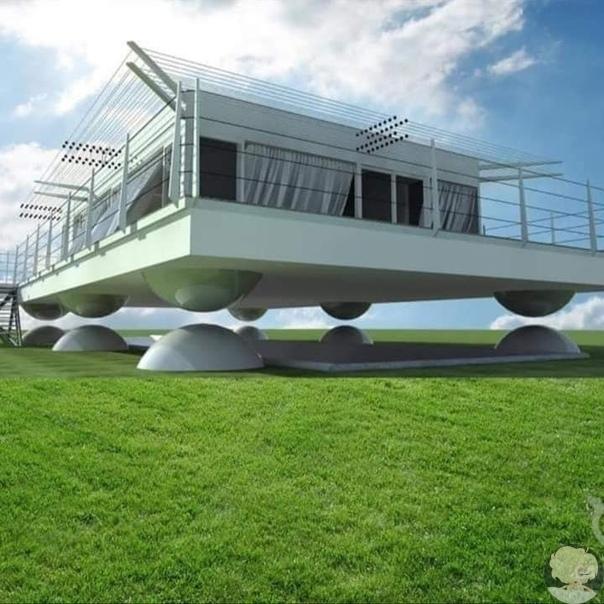 В Японии создали дома способные на несколько сантиметров приподниматься над поверхностью земли в случае начала землетрясения и находиться в таком положении вплоть до окончания подземных толчков