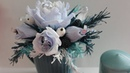 Новогодний букет из конфет в кружке / DIY Crepe paper bouquet