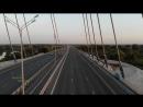 Пролёт под вантами _⁄ Кировский мост г.Самара _⁄ закат солнца _⁄ sunset