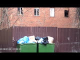 garbage by the wall