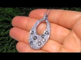 UNTREATED 3.70 Carat Fancy Champagne &amp White Diamond Solid 14K Gold Pendant - Necklace