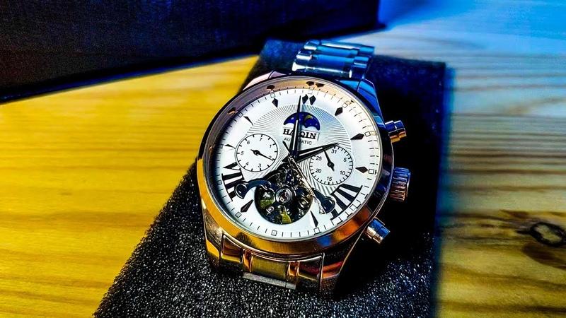 Механические часы HAIQUIN с AliExpress Механика с автоподзаводом за 30 долларов для мужиков