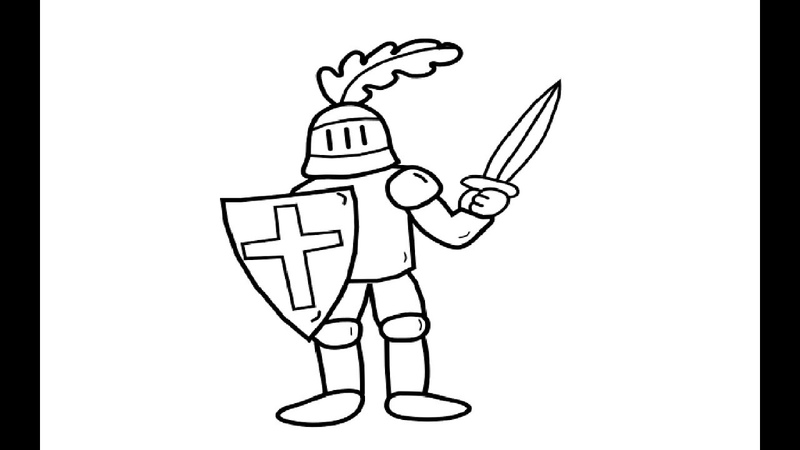 Knights Coloring Pages for Kid - How to Draw Knights