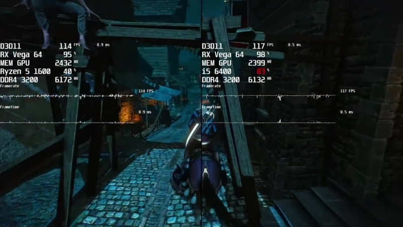 [game one] Чё, посоны, Интелу разгон не нужен Ryzen 5 1600 vs Core i5 6400 OC