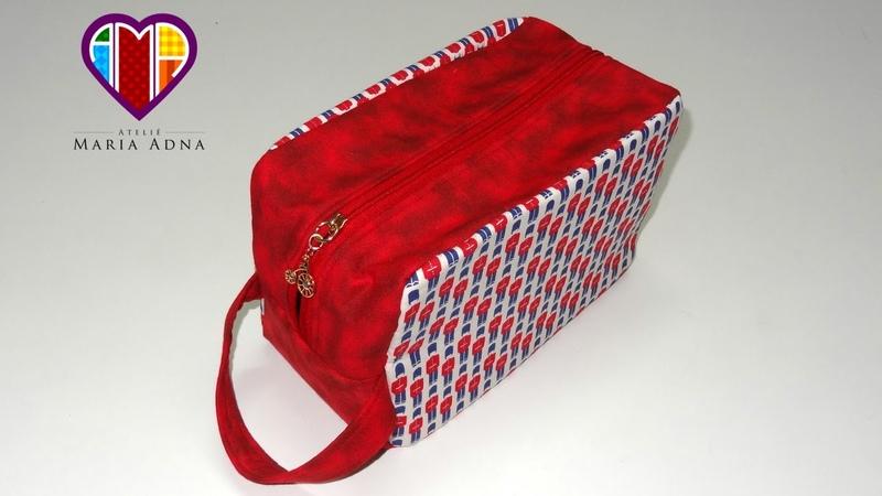Bolsa necessaire de tecido Inglesa. Fabric necessaire tutorial. How to make a fabric necessaire