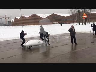 Разработчики назвали возможные причины падения прототипа аэротакси в Сколково. РЕН ТВ