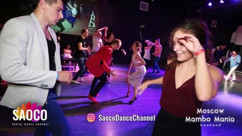 Denis Zolotarev and Natasha Chumakova Salsa Dancing at Moscow MamboMania weekend, Sat 27.10.2018