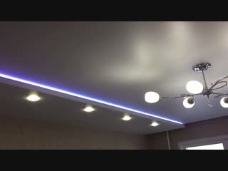 Двух уровневый каскадный натяжной потолок (Игошина 4)