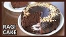Eggless Ragi Chocolate Cake How To Make Cake In Pressure Cooker Healthy Ragi Cake with Jaggery