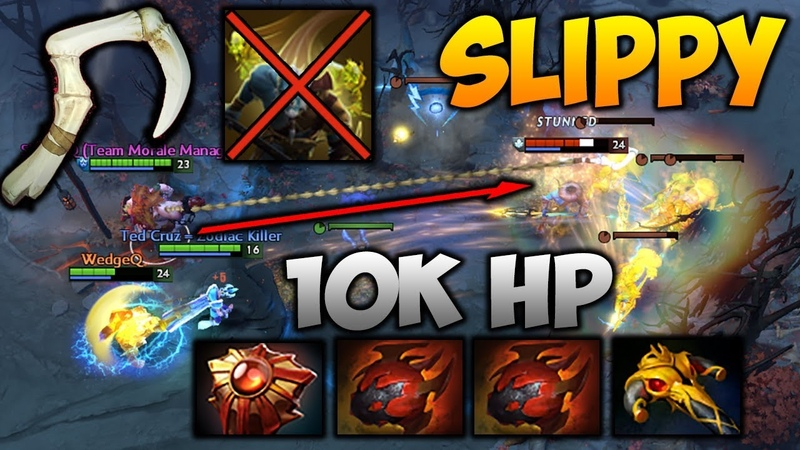 SLIPPY 10 000 HP PUDGE Highlights Dota 2