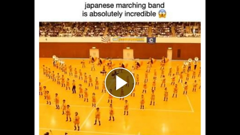 Japanese marching Band is absolutely incredible (^○^)