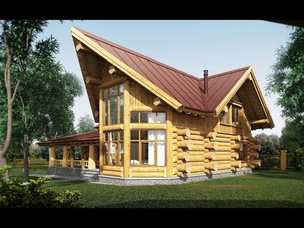 Рубленный дом из кедра по технологии post and beam под Звенигородом