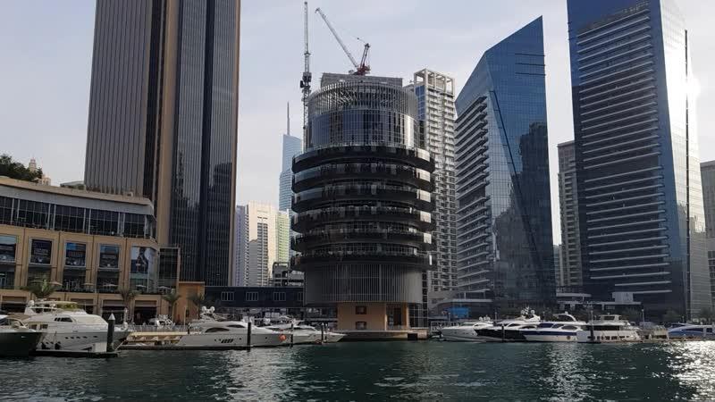 Dubai Marina in the Yacht