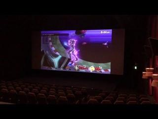 映画館のスクリーンでスマブラを体験!
