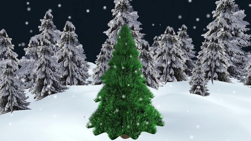 Новогодний футаж Новый год Рождественская елка 3D Вариант 2 New year Christmas Tree 3D