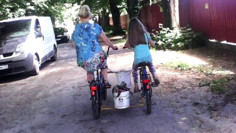 Велосипед Тетрацикл Тандем параллельный Синхронизатор рулей Фиксирующая поперечина