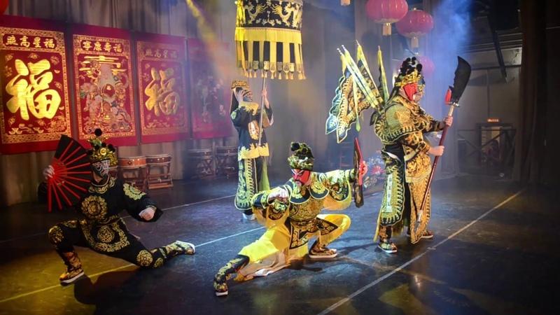 Армия золотого дракона Китайское шоу боевых искусств
