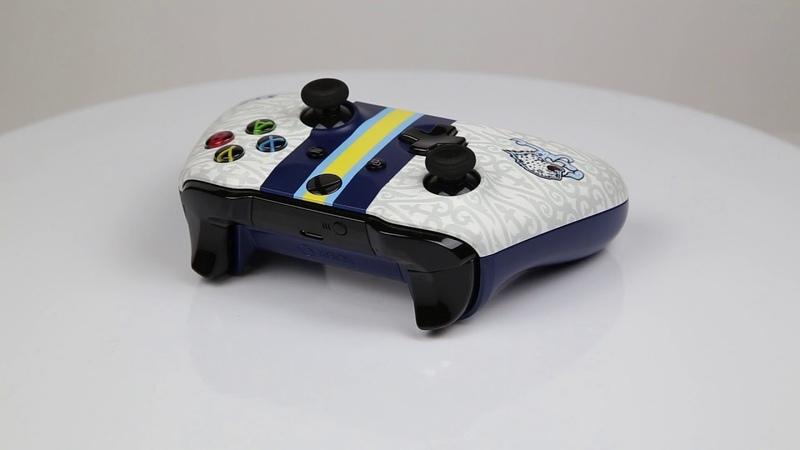 Кастомизированный беспроводной контроллер Xbox One S КХЛ Барыс
