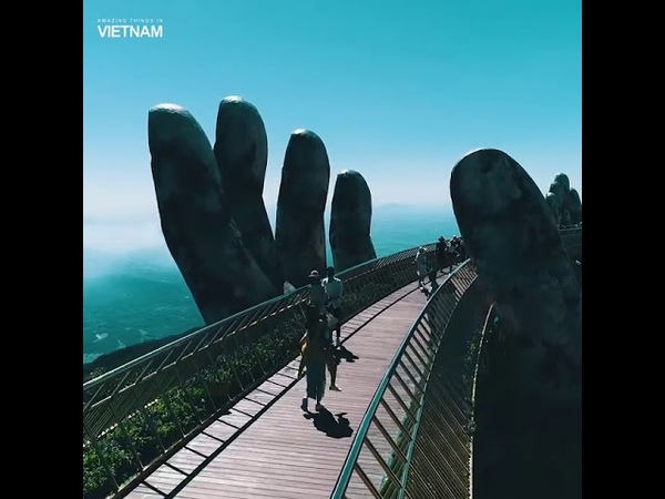 Золотой мост . Да Нанг, Вьетнам.