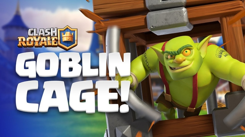 ClashRoyale: NEW CARD REVEAL! 😲 Goblin Cage enters the Arena!