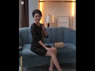 Фотосессия китайской модели
