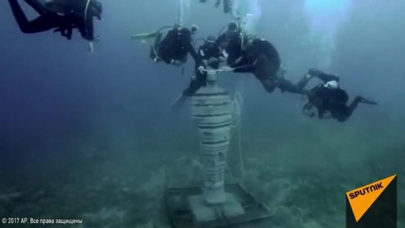 Статую египетского бога Пта установили на дне Красного моря.