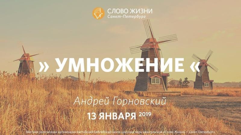 Умножение - Андрей Горновский, Слово Жизни, г. Санкт-Петербург