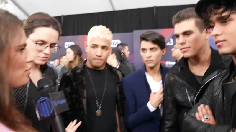 CNCO at iHeart Music Awards 2018 Red Carpet with Emerson Unger