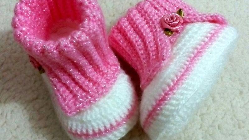 Botinha de crochê (nivel de dificuldade = difícil)
