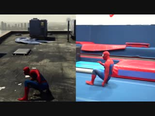 Stunts from spiderman ps4 in real life (parkour)