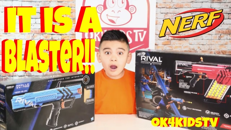 Nerf Rival Appolo XV 700 and Nerf Rival Khaos MXVI 4000 Blaster toy review ok4kidstv video 253