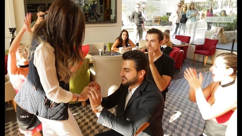 Flash mob marry you Bruno mars proposal - Hassan Hala – Lina's (Backyard Hazmieh)