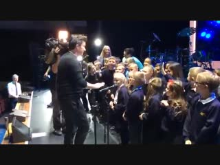 Netherfield Primary School never gave up' on @rickastley and were rewarded with a very special meet and greet on the Royal Conce